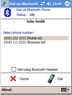 V-Mobile Software - Bluetooth Dialer